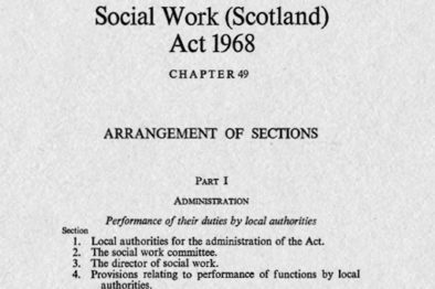 50th anniversary of the 1968 Social Work Scotland Act